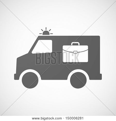 Isolated Ambulance Icon With  A Briefcase