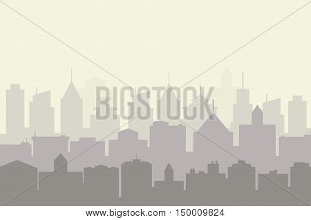 Modern City skyline . city silhouette. vector illustration in flat design. city landscape. Cityscape backgrounds. City at Early Morning
