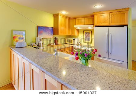 Happy Bright Green And Yellow Kitchen