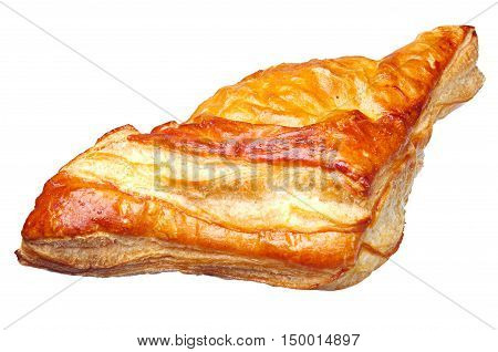 Croissant isolated on white background close up