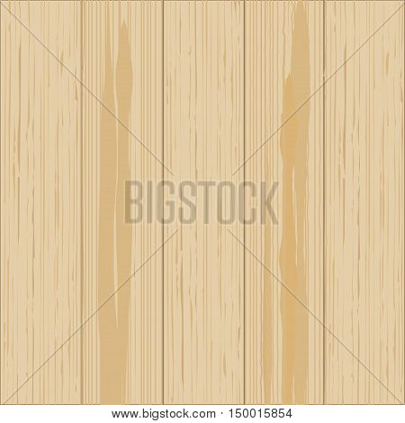 Wooden background. Wood texture, pine board Vector illustration
