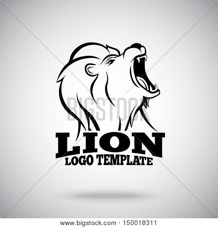 Roaring Lion vector logo template for sport teams, brands etc