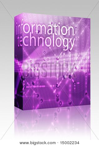 Software package box Information technology illustration, Digital data transfer abstract