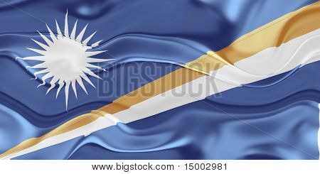 Flag of Marshall Islands, national country symbol illustration wavy
