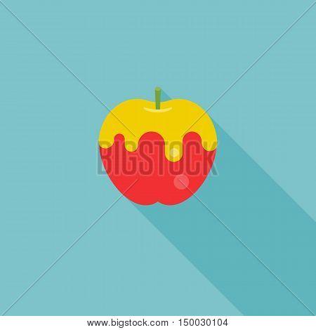 icon of apple with honey, forJewish's new year, rosh hashana, shana tova