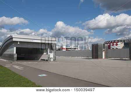 MOSCOW, RUSSIA - OCTOBER 01, 2016: - Otkrytiye Arena Spartak football club stadium included in the Russia's bid for the 2018 FIFA World Cup and 2017 FIFA Confederations Cup.