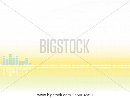 Abstract Yellow Vector Background With Equalizer