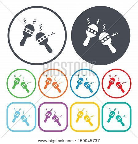 vector illustration of maracas icon in simple style isolated on background. Stock vector symbol.