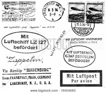 Zeppelin relacionadas com carimbos