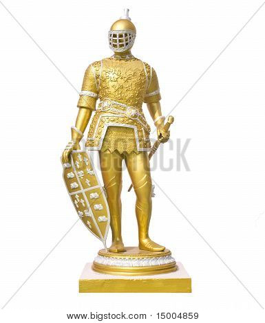 statue roman soldier isolated