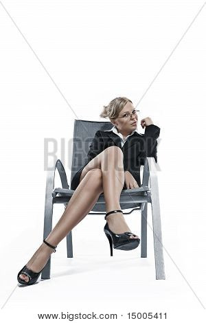in chair