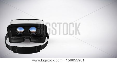 Digital image of virtual reality simulator against grey background