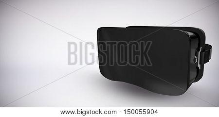 Digital image of black virtual reality simulator against grey background