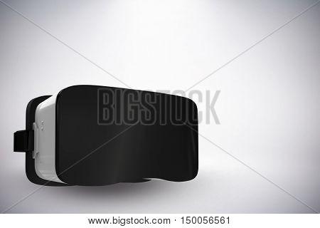 White virtual reality simulator against white background against grey background