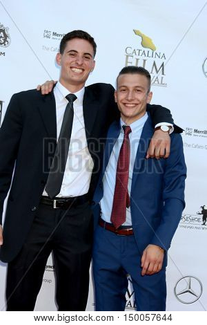 LOS ANGELES - SEP 30:  Daniel Ajemian, Jordan WIse at the Catalina Film Festival - Friday at the Casino on September 30, 2016 in Avalon, Catalina Island, CA