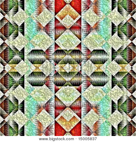 Native american traditional decorative tribal pattern design background