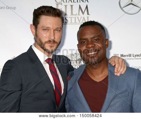 LOS ANGELES - SEP 30:  Michael Graziadei, Tim Kennedy aka Delious at the catalina Film Festival - Friday at the Casino on September 30, 2016 in Avalon, catalina Island, CA