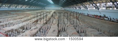 All The Terracotta Warriors Army, Zian, China, Panorama