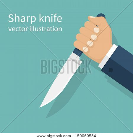 Man Holding Knife In Hand