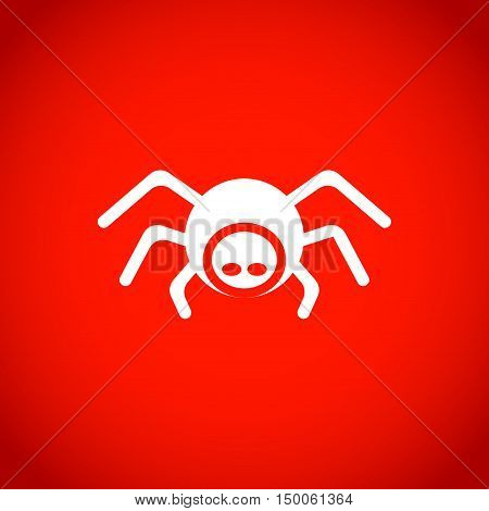 spider icon stock vector illustration flat design
