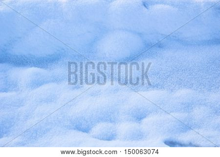 White bright cold icy closeup snow pattern background