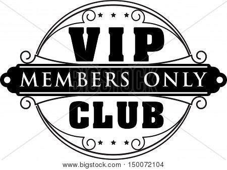 Rich decorate VIP club members only decor with unusual stylish ornate round frame.