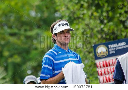 CHONBURI - DECEMBER 13 : Bubba Watson of USA player in Thailand Golf Championship 2015 at Amata Spring Country Club on December 13 2015 in Chonburi Thailand.