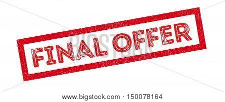 Final Offer Rubber Stamp