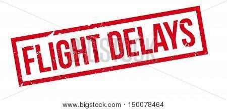 Flight Delays Rubber Stamp