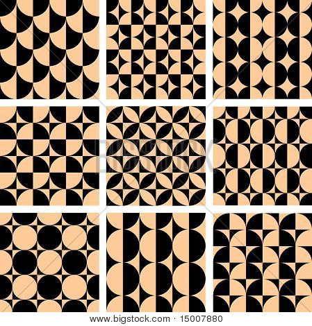 Seamless Geometric Patterns In Op Art Design.