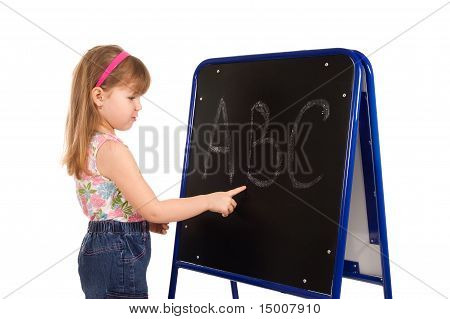 The Little Girl About A Board