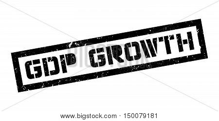 Gdp Growth Rubber Stamp