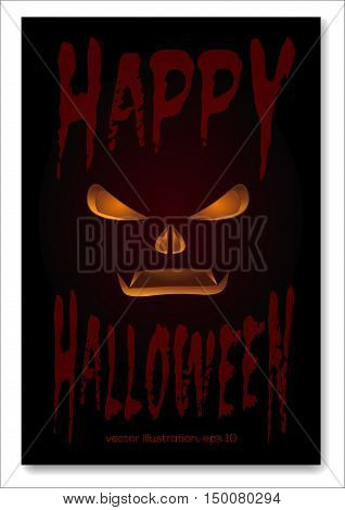 Happy Hallowen design. Poster for Hallowen. Vector illustration