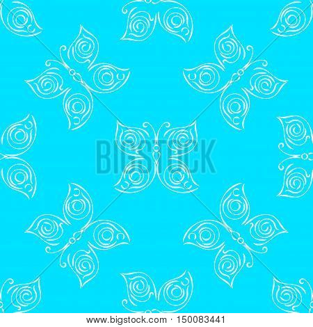 Butterfly seamless pattern. Butterfly background. Butterfly wallpaper. Vector illustration.