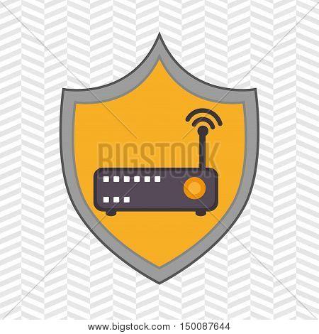 symbol router signal vector illustration eps 10