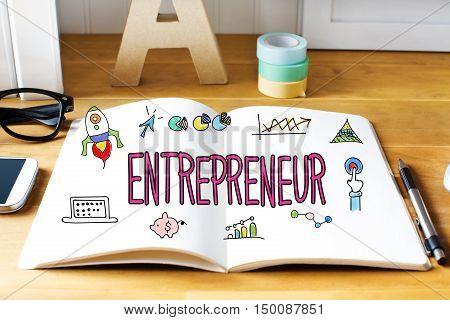 Entrepreneur Concept With Notebook
