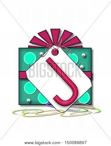 Alphabet Gift Wrapped J