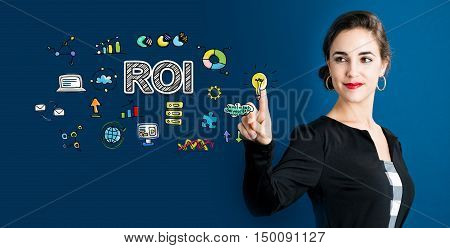 Roi Concept With Business Woman