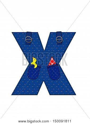 Alphabet Farmer Brown X