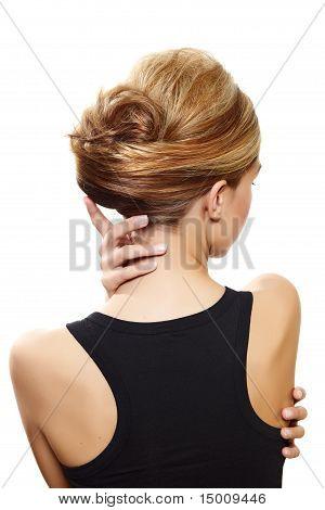 Beautiful Blond Woman Back