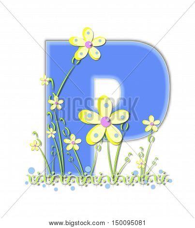 Alphabet Yellow Daisies P