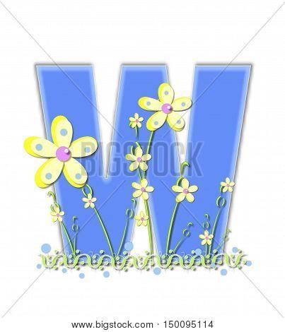 Alphabet Yellow Daisies W