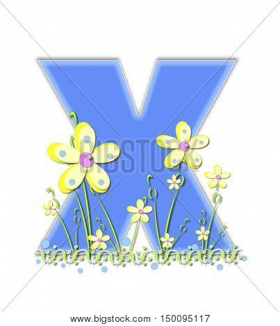 Alphabet Yellow Daisies X