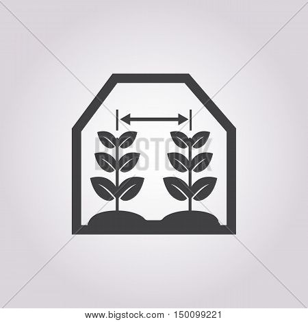 greenhouse icon on white background for web