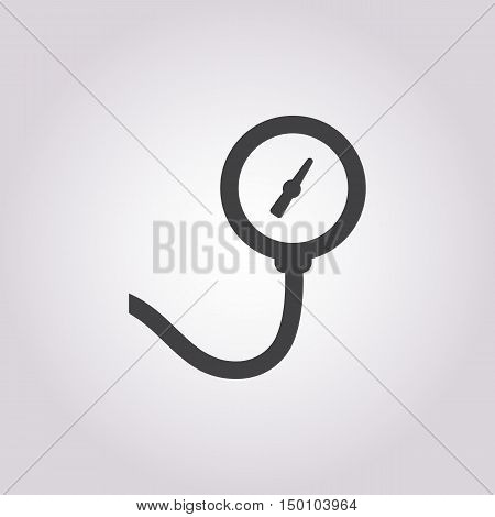 pressure gauge icon on white background for web