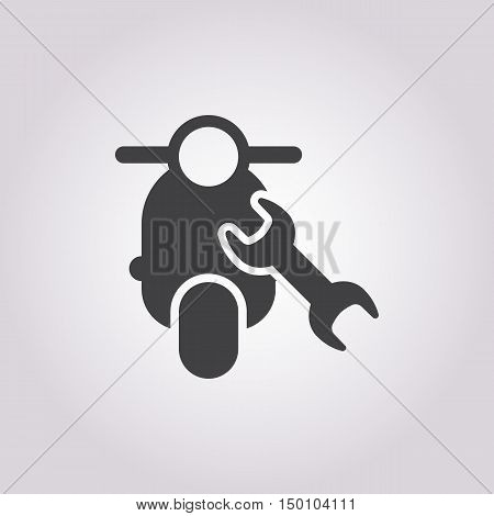 moped repair icon on white background for web