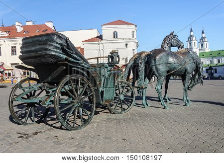 Minsk, Belarus - September 13, 2016: Sculpture