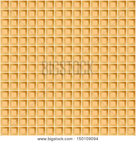 Wafer seamless background. Vector illustration. Waffle pattern