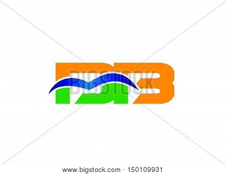 DB company linked letter logo design vector template