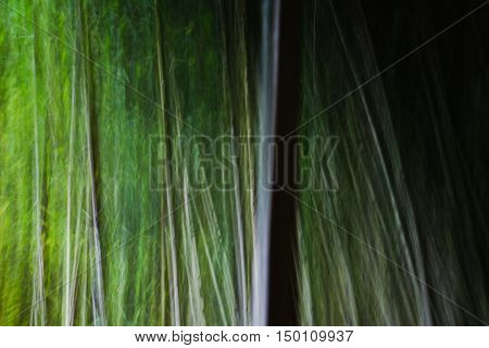 Abstract motion blur bamboo trees in horizontal 3:2 format.